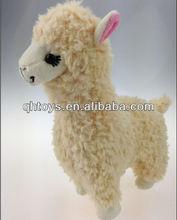 2013 alpaca stuffed animal plush toys in cream color