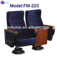 FM-223 English movies wood church chair theater seat