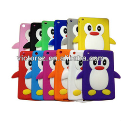 2013 new lovely 3D animal shape cute silicon case for ipad mini