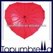 28 inches 16 ribs unique love heart shape umbrella
