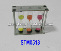 3 IN 1 Metal Frame Sand Timer/Sand Clock and Sand Watch