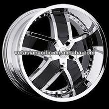 Aluminum Alloy Chrome Tuner Mag wheel 20 22 24 inch LOMBARDI chrome with black inserts B