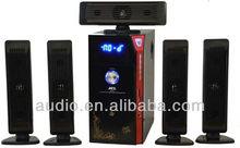 5.1 hot sale empty plastic speaker boxes
