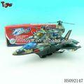 bateria de brinquedo avião de guerra com 12 pcs luzes