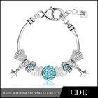 CDE Handmade DIY Charm Bracelet,Crystal Fashion Bracelet 2014
