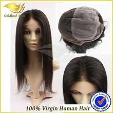 silk base glueless full lace 100% human hair wig