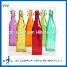250ml 500ml 1 liter food grade swing top glass water bottle