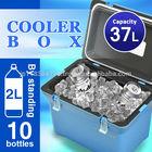 COOLER BOX large 37L(39Qt) keep cold chill ice warm Japan made outdoor big fishing BBQ sport camp car plastic AQUA BLUE 400 MBL