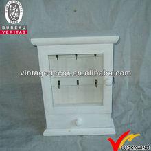 Luckywind french style vintage white handicraft decorative key box