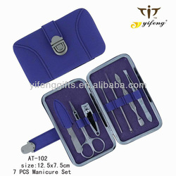 2013 7 pcs new stlye hot sell manicure set for women in metal frame case & grooming kit, Beauty accessories for women