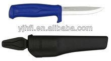 Fishing knife with plastic sheath