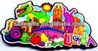Colorful Promo custom 3d soft PVC magnets for fridge,PVC souvenir magnets