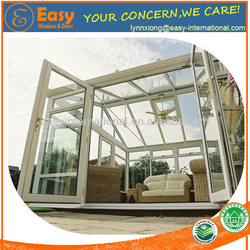 strong prefabricated elegant glass house aluminum sunroom conservatory