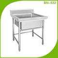 Restaurante usado BN-S32 pia da cozinha de aço inoxidável comercial