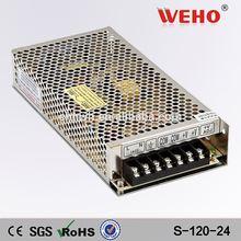 CE ROHS approved 120W 10 amp power transformer S-120-24 24v 5v dc power supply
