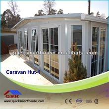 prefab cabin with 3 sides walls