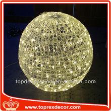 Acrylic led lighting large outdoor christmas glitter balls