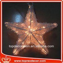Energy saving star led acrylic outdoor christmas decorations