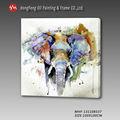 hecho a mano moderna el más nuevo diseño de los animales elefante sobre lienzo de pintura al óleo