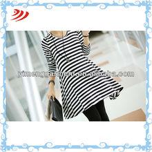 Korean chevron maxi style belly band maternity dress