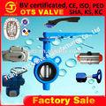Bv-sy-371 de alta calidad de extremo ranurado válvula de mariposa de la fábrica