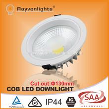 Qualified High Lumen epistar cob led chip 3 years warranty cob led downlight 30w 8 inch