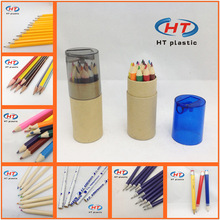 Low Price!!! MOQ 3000PCS Customized Logo Wooden Color Pencil/Color Pencil/Pencil Set