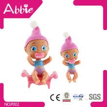 3.5inch Drinking Milk Black Baby Doll Plastic Mini Craft Baby Dolls Silicone Reborn Mini Baby Dolls