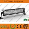 72W Curved cree led light bar Spot Flood Combo Auto Vehicles LED Working Light Bar 12V 24V ATV Curved LED Work Lights