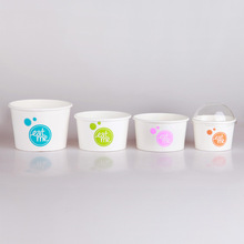 A series of customized lovely pattern high quality ice cream paper cup with dome lid from Wuhan manufacturer