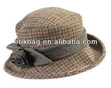 popular lady cotton bucket flower hat