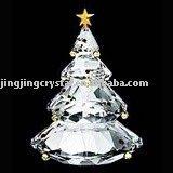 Crystal Glass Christmas Tree Ornament(JDLP-027)
