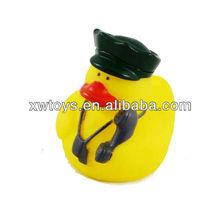 Police-duck,vinyl bath toys,rubber duck toys