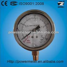 "80mm/3"" vacuum silicone oil filled gas fuel pressure gauge"