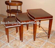 Coffee table Malaysia rubber wood silver leaf MDF HB-4688