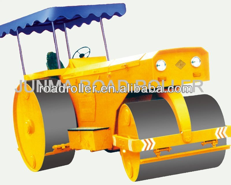 Three wheels hydraulic steering static road roller