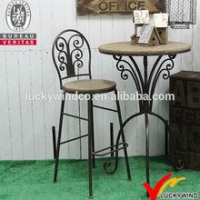 antique vintage Industrial metal wooden bar stool wholesale