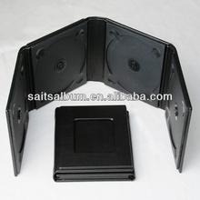 Elegant Black leather 4 CD case holder with plain cover