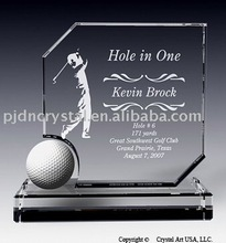 best selling crystal golf trophy awards for decoration