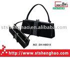 Pcv drilling hot black leather shoulder bag Clutch evening bag