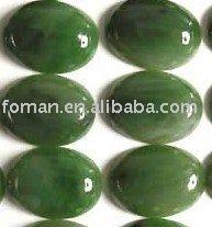 20x15mm oval green jadeite gemstone cabochon