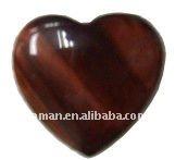 30mm heart shape red tiger eye heart cabochon gemstone