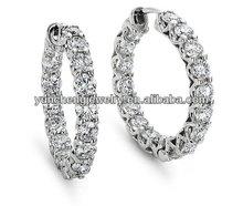 YCE1559 925 Sterling Silver Hoop Earring, Newest Design Hoop Earring