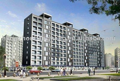 estructura prefabricada de acero edificio de apartamentos de la construcción