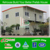 ISO approve sandwich panel prefabricated steel frame houses