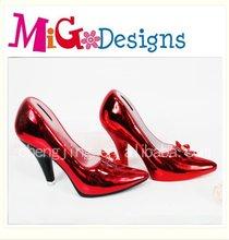 Ceramic Painted High-heeled Shoe Money Bank