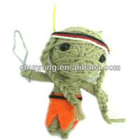 Indian Soldier Dolls; Pretty Style String Dolls; Handmade fabric voodoo doll