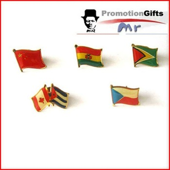 rubber patched metal flag lapel pin crafts in 2012