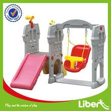 Liben Professional Indoor Kids Plastic Slide With Swing LE-HT012
