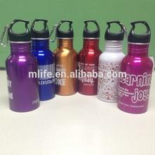500ml BPA free aluminum bottle, none leak phthalate free aluminum water bottle, promotional aluminum sport bottle